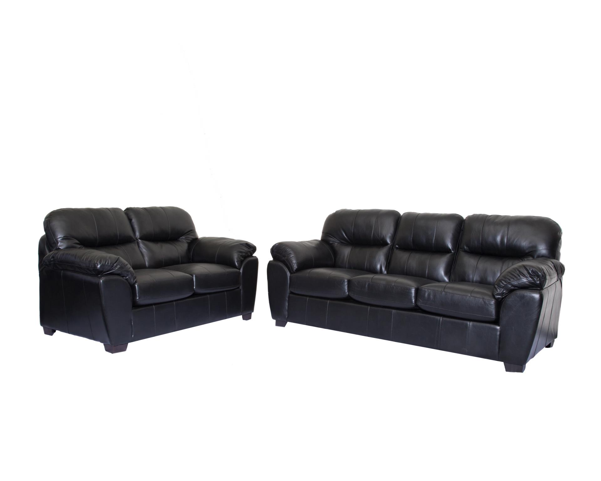 1601 Leather Gel Brown Or Black Sofa And Loveseat Made In Canada Affordable